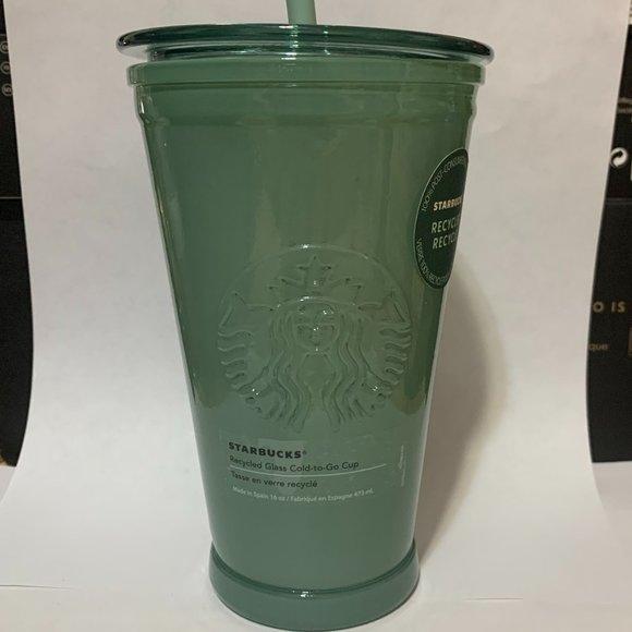 NEW Starbucks Glass Cold to Go Cup Mug Tumbler